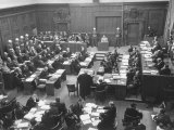Scene in the Courtroom During the 3rd Day Session of the Nuremberg Trial