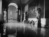 """Flooded Museum  Accademia  Michelangelo's  """"David"""" in Rear"""