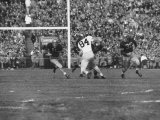 Navy Quaterback  George Welsh  Running  Grim-Faced  During Army-Navy Game