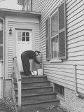 Milkman Delivering Milk to a Doorstep