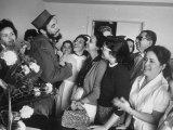 Rebel Leader Fidel Castro During Celebration of His Rebel Victory