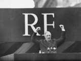 French President Charles De Gaulle Making a Speech