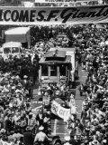 Parade Welcoming the Giants to San Francisco Aluminium