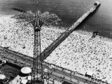 Coney Island Parachute Jump Aerial and Beach Coney Island  Brooklyn  New York 1951