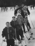 Family of Skiers at the Mt Snow Ski Resort