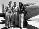 Capt Charles Yeager  Major Gus Lundquist and Capt James Fitzgerald Standing in Front of Bell X-1