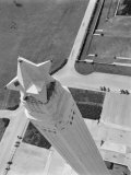 Aerial Shot of San Jacinto Monument 1952 Houston  Texas