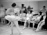 Members of the School of American Ballet Resting During Rehearsals