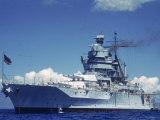 Warship During Us Navy Manuevers Off Hawaii