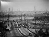 Subject: New York City Skyline Seen from Highway