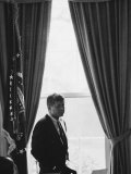 President John F Kennedy in the Oval Office During the Steel Crisis