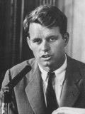 Sen Robert F Kennedy Attending a Labor Hearing