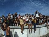Fish Eye View of Spectators Watching Apollo 11 Blast-Off