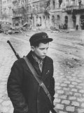 Hungarian Boy Freedom Fighter  During Workers Revolution Against Soviet Backed Communist Government