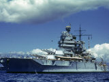 Battleship During Us Navy Manuevers Off Hawaii