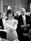 Jacquelin Kennedy Attending Luncheon W Many Diginitaries Including French Pres Charles Degaulle