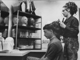Gi Gary Drunheller  with Hair Cut Short According to Military Regulations  Getting Fitted for a Wig