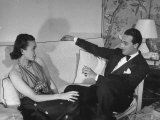 Count and Countess Emanuele Borromeo D'Adda  Relaxing in their Home in Rome