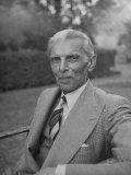 Indian Statesman Mohammed Ali Jinnah Sitting in His Garden