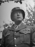 General George S Patton in Normandy  France