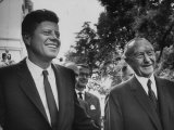 German Konrad Adenauer  with Guest President John F Kennedy