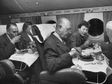 Passengers Eating Main Course of Presidential Special Steak Dinner