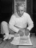 Broker Astrologer Reading Horoscope While Trading at Bombay Stock Exchange