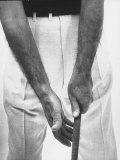 Ben Hogan  Close Up of Hands Grasping Club
