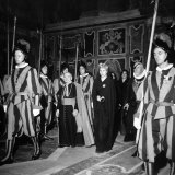 Argentina's First Lady Eva Peron at the Vatican in a Stop on Her European Tour
