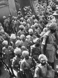 The Indian Sikh Troops from Punjab  Boarding the Troop Transport in the Penang Harbor