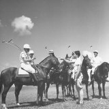 Polo Players Preparing for a Game at the Canlubang Country Club