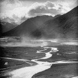 Dust Rising Up from Bed of the Waimakariri River