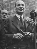 Next Prime Minister Clement Attlee  Greeting Newsreel Personnel