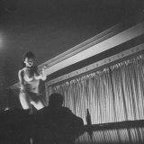 Woman Performing a Strip Tease Dance