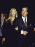 John F Kennedy Jr and Wife Carolyn at George Magazine's 2nd Anniversary Party