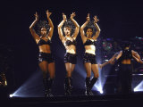 Singer Madonna Performing with Dancers