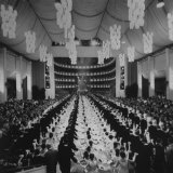 200 International Debutantes Dancing Polonaise at Opera Centennial Party
