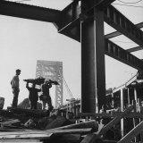 George Washington Bridge Being Constructed