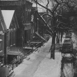 Street Scenes in the Slum Area of Chicago  Showing Tenement Houses and Dilapidated Buildings