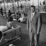 Gym Owner  Vic Tanny in One of His 60 Gyms