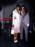 Model Naomi Campbell and Singer Lenny Kravitz