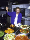 Television Cooking Expert Julia Child at Opening of Restaurant Eatzi's