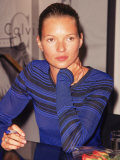 Model Kate Moss Signing Autographs