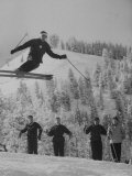 Olympic Hopeful  Bud Werner  Jumping Slope  at Sun Valley Training Camp