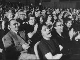 """An Audience Watching the Play  """"Man in a Dog Suit"""""""