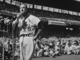 Major League Baseball Player  Stan Musial  Announcing His Retirement from Baseball