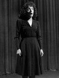 Singer Edith Piaf Singing on Stage