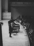 Soviet Pianist  Sviatoslav Richter  on Stage During His Tour