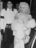 "Singers Madonna and Michael Jackson on Way to Agent Irving ""Swifty"" Lazar's Annual Oscar Party Aluminium par David Mcgough"