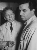 Actor Vincent Edwards with Actor Sam Jaffe as He Appears in Television Program Ben Casey